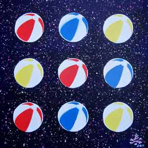 Beachballs #2 - Light Bodies and Space